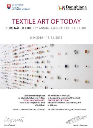 5th Triennial Textile Art of Today, Danubiana Meulensteen Art Museum, Bratislava, Slovak Republic, 2018.